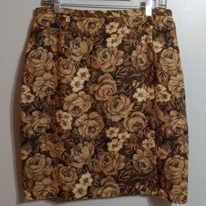 NWOT Vintage Wrap Around Skirt, Silk lined Size 12